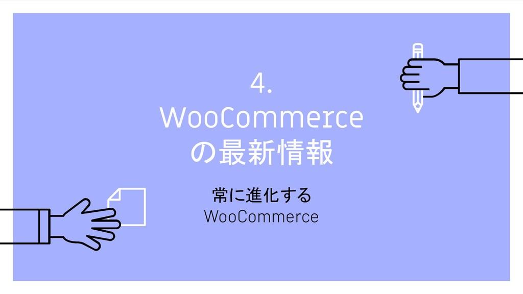 4. WooCommerce の最新情報 常に進化する WooCommerce
