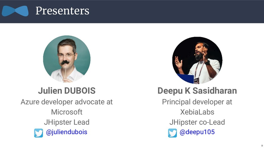 Presenters Julien DUBOIS Azure developer advoca...