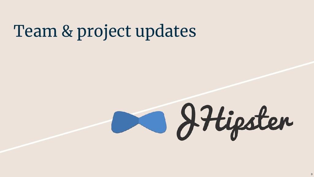 Team & project updates D