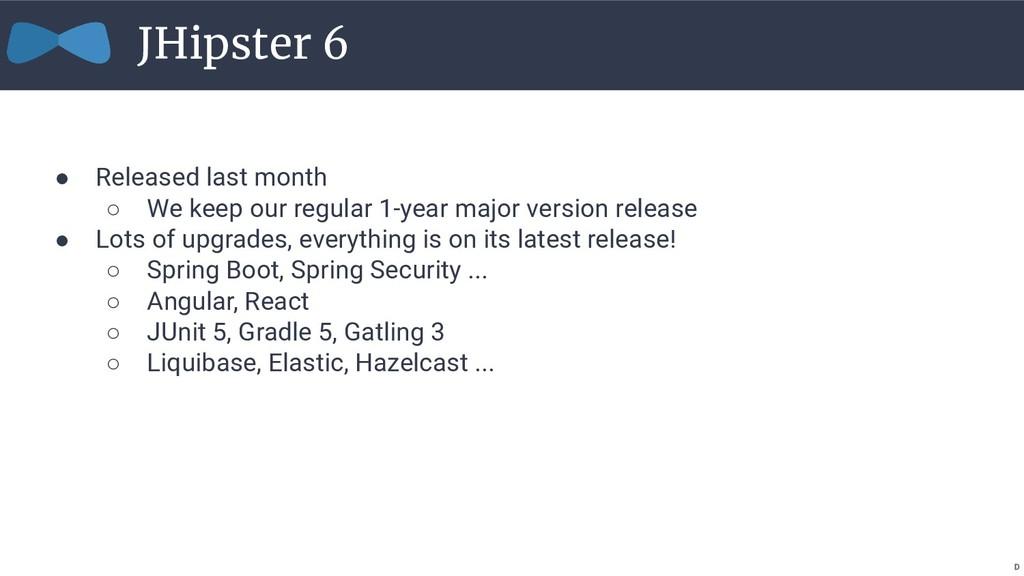 ● Released last month ○ We keep our regular 1-y...