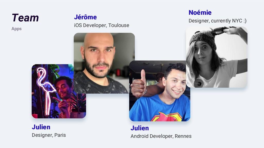 Team Apps Jérôme iOS Developer, Toulouse Julien...