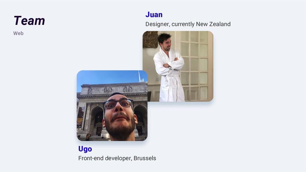 Team Web Ugo Front-end developer, Brussels Juan...