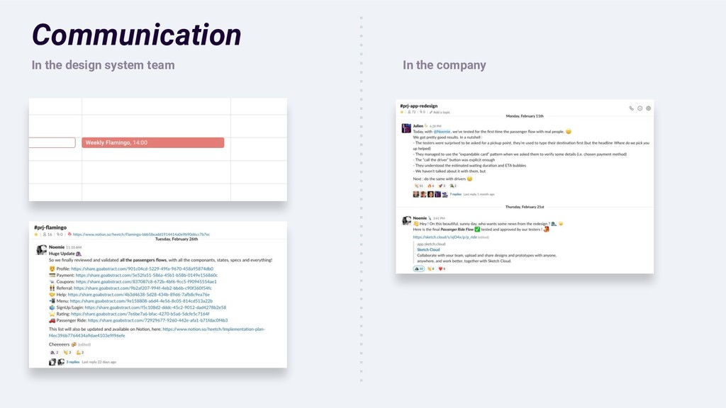 Communication In the design system team In the ...