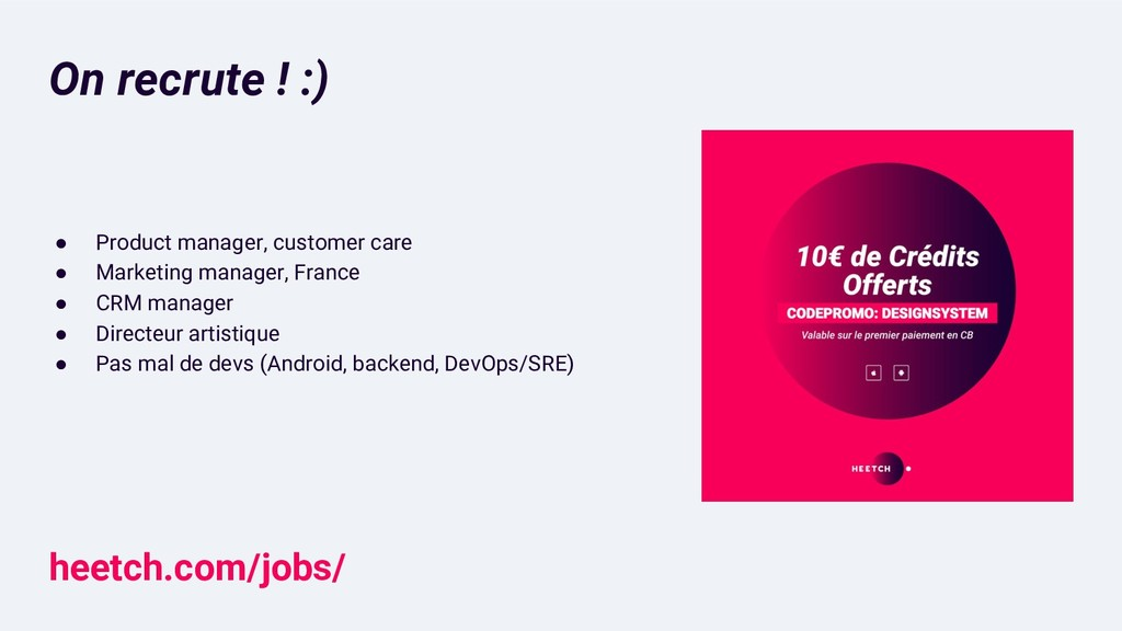 On recrute ! :) ● Product manager, customer car...