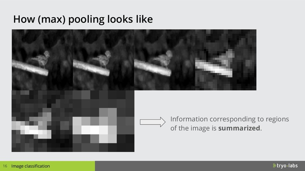 How (max) pooling looks like 16 Image classific...