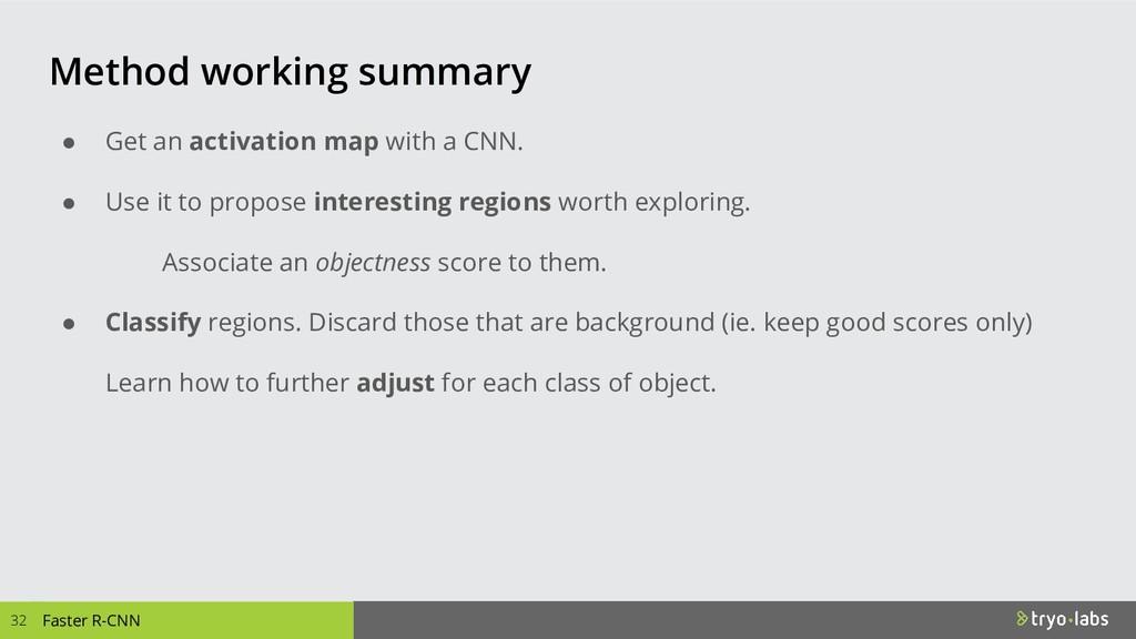 Faster R-CNN Method working summary ● Get an ac...