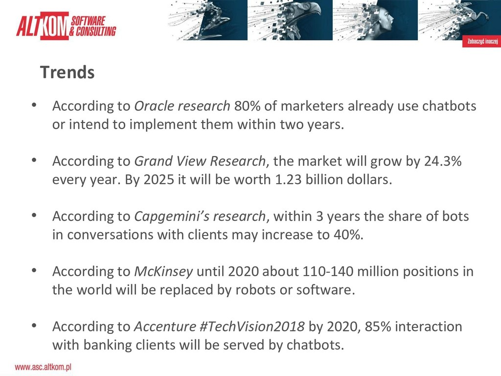Trends • According to Oracle research 80% of ma...