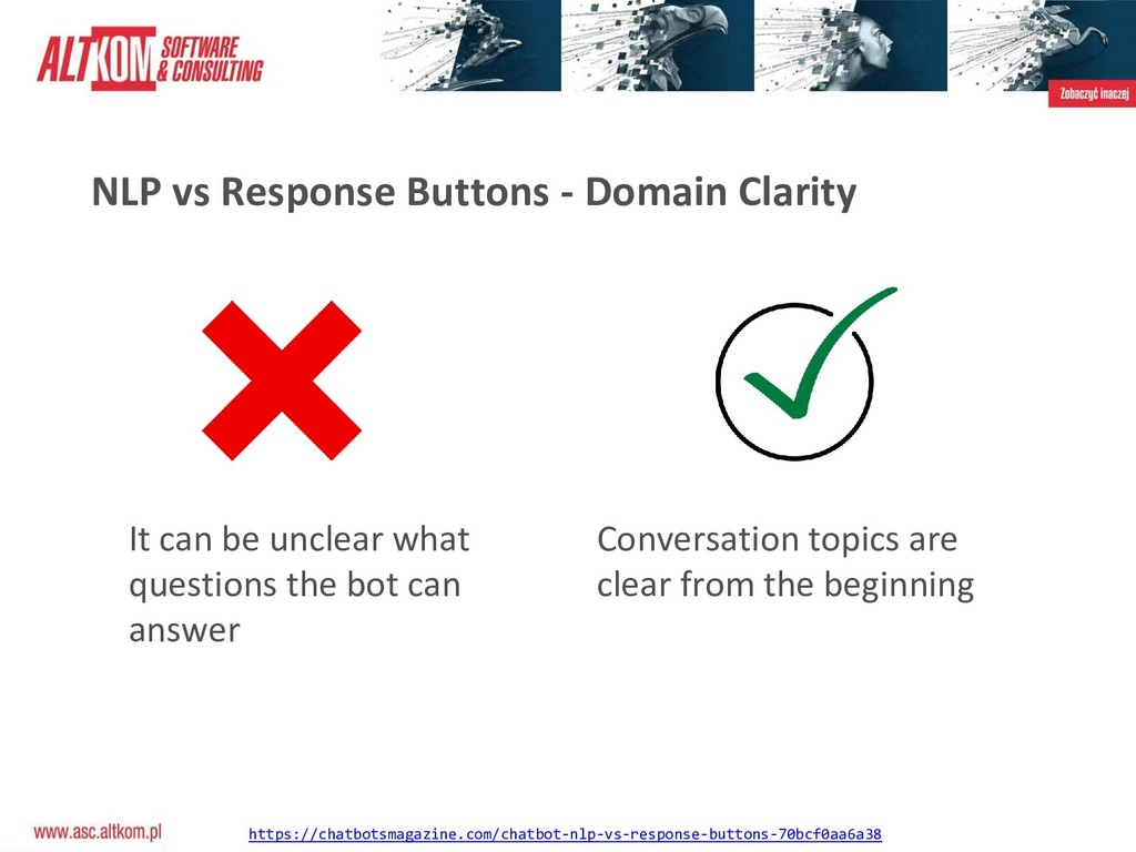 NLP vs Response Buttons - Domain Clarity It can...