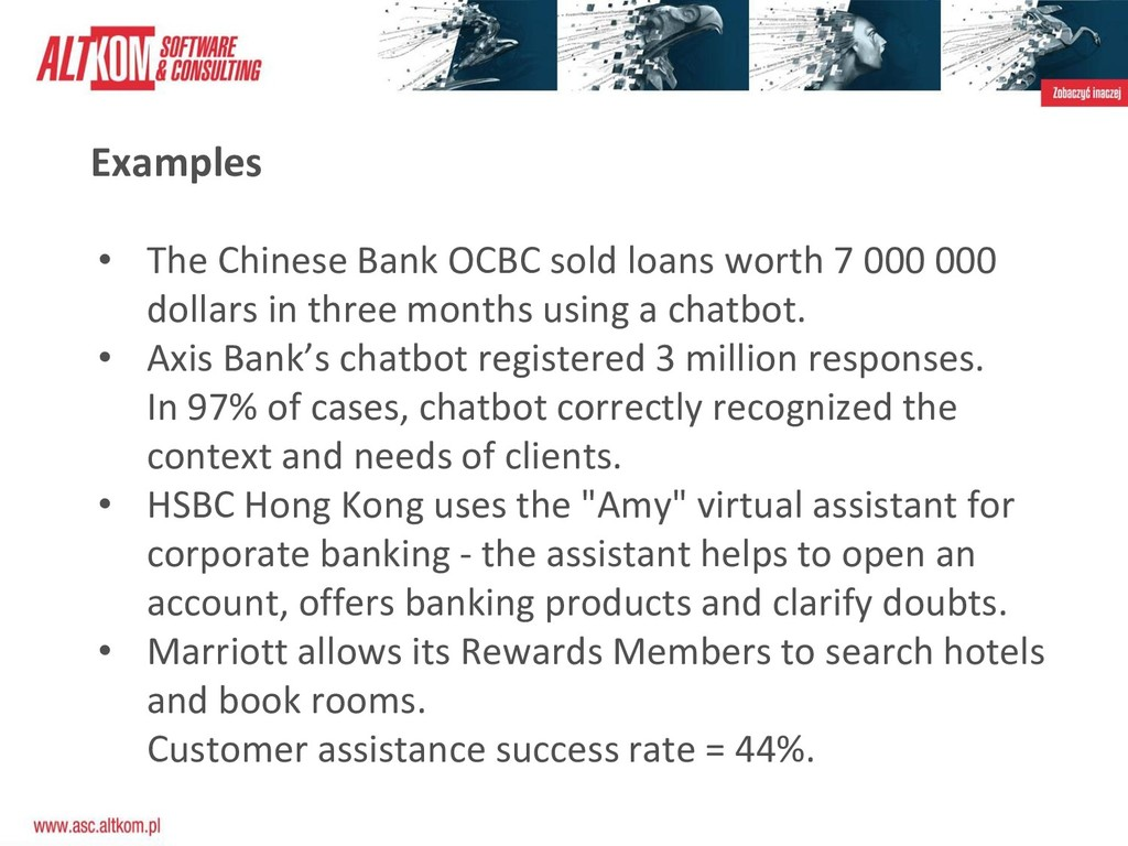Examples • The Chinese Bank OCBC sold loans wor...