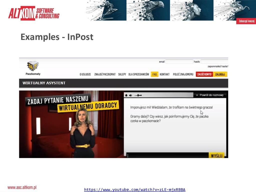 Examples - InPost https://www.youtube.com/watch...