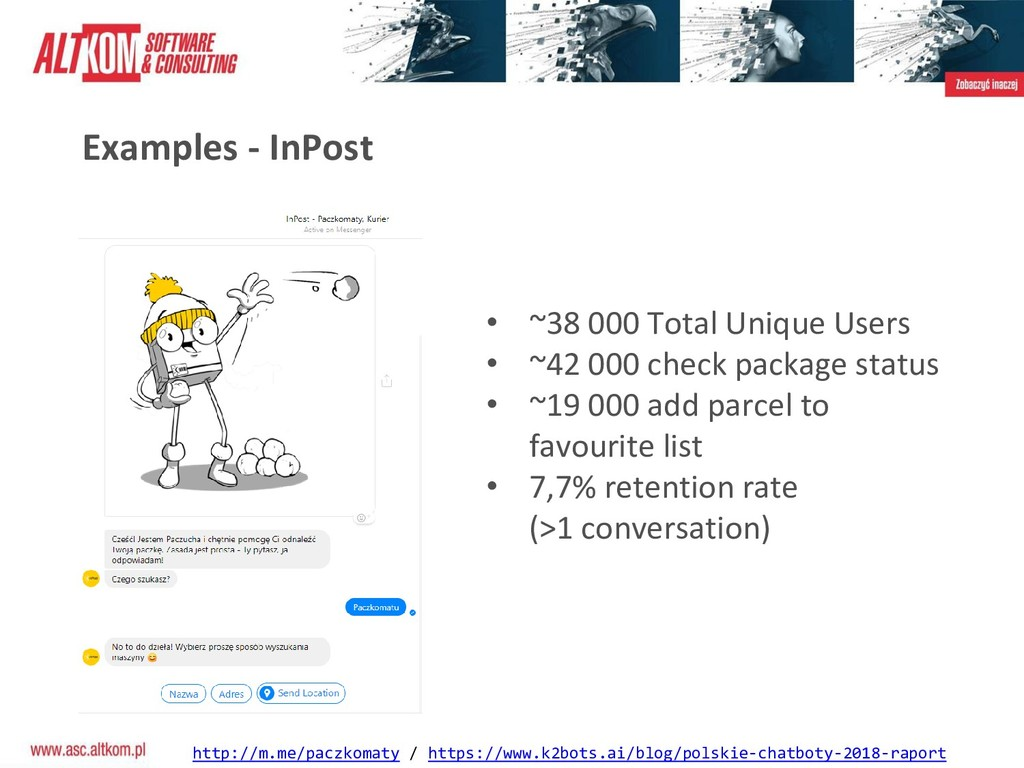 Examples - InPost http://m.me/paczkomaty / http...