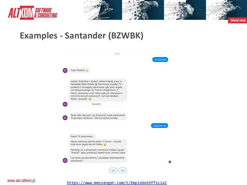 Examples - Santander (BZWBK) https://www.messen...