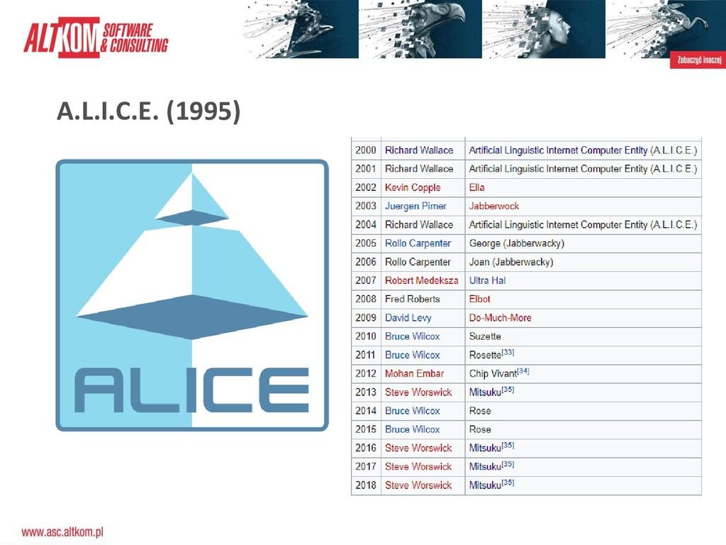 A.L.I.C.E. (1995)