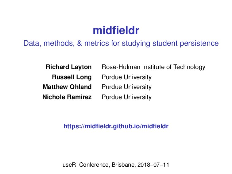 midfieldr Data, methods, & metrics for studying ...