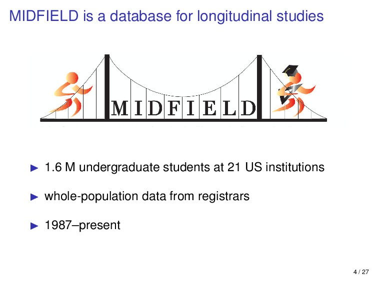 MIDFIELD is a database for longitudinal studies...