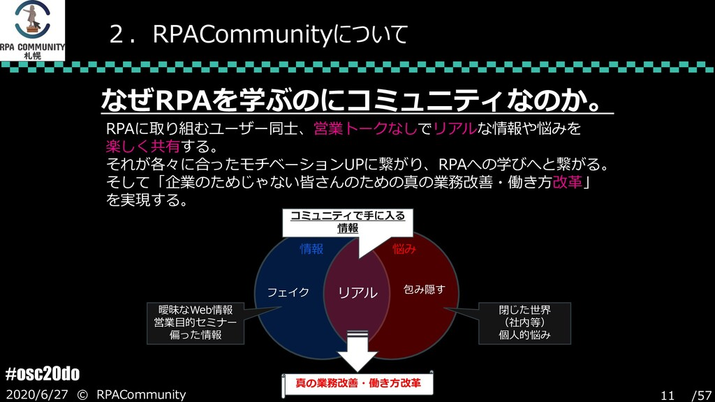 /57 #osc20do 2020/6/27 © RPACommunity 11 2.RPAC...
