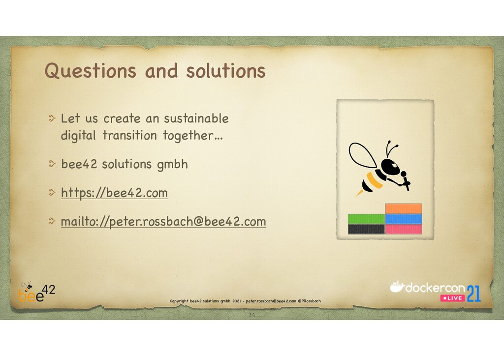 Copyright bee42 solutions gmbh 2021 - peter.ros...