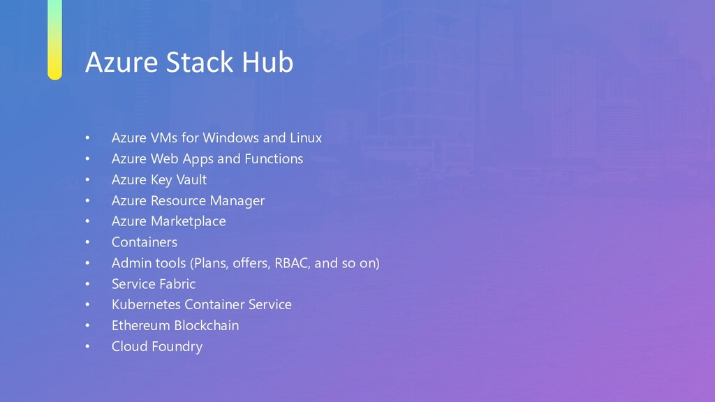 Azure Stack Hub • Azure VMs for Windows and Lin...