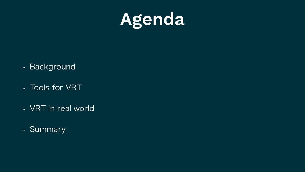Agenda w #BDLHSPVOE w 5PPMTGPS735 w 735JO...
