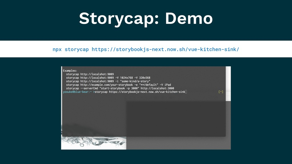 Storycap: Demo npx storycap https://storybookjs...
