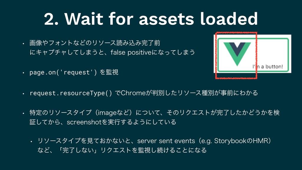 2. Wait for assets loaded w ը૾ϑΥϯτͳͲͷϦιʔεಡΈࠐΈ...