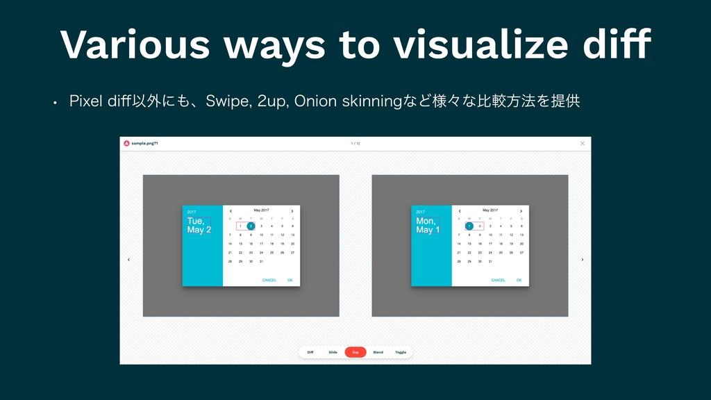 Various ways to visualize diff w 1JYFMEJ⒎Ҏ֎ʹɺ...