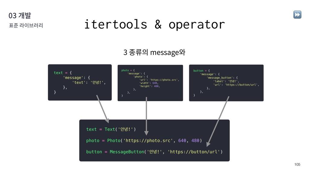 !105 03 개발 표준 라이브러리 ⏩ itertools & operator 3 종류...