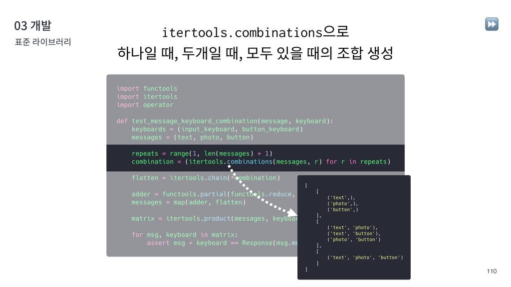 !110 03 개발 표준 라이브러리 ⏩ itertools.combinations으로...