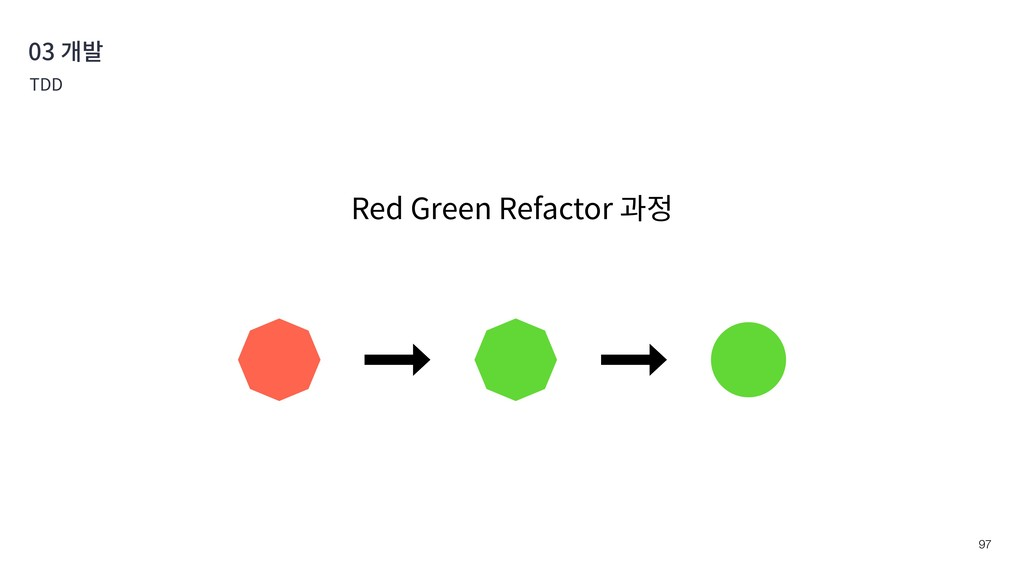 !97 03 개발 TDD Red Green Refactor 과정