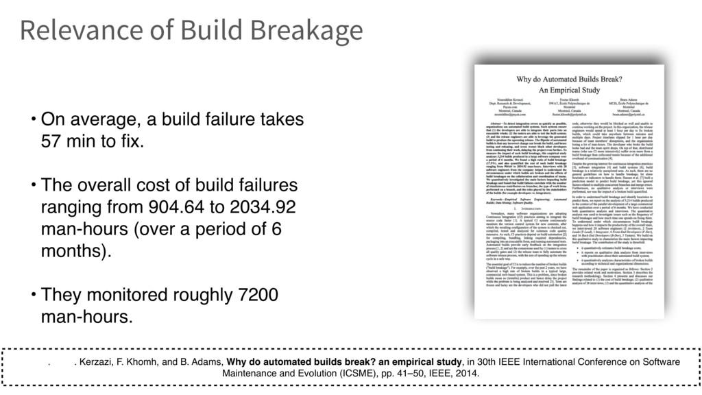 • On average, a build failure takes 57 min to f...