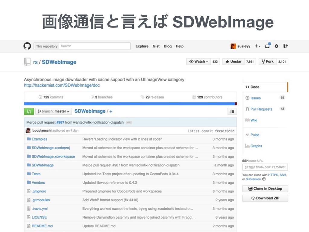 ը૾௨৴ͱݴ͑ SDWebImage