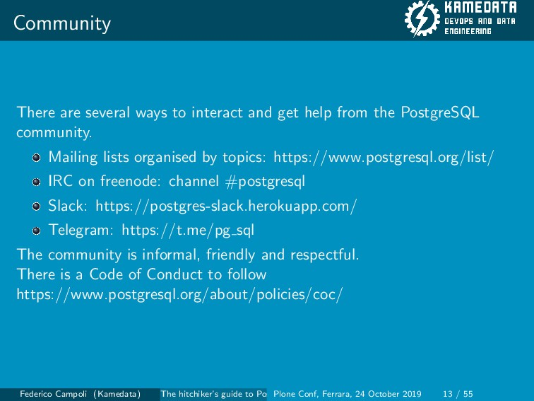 Community There are several ways to interact an...
