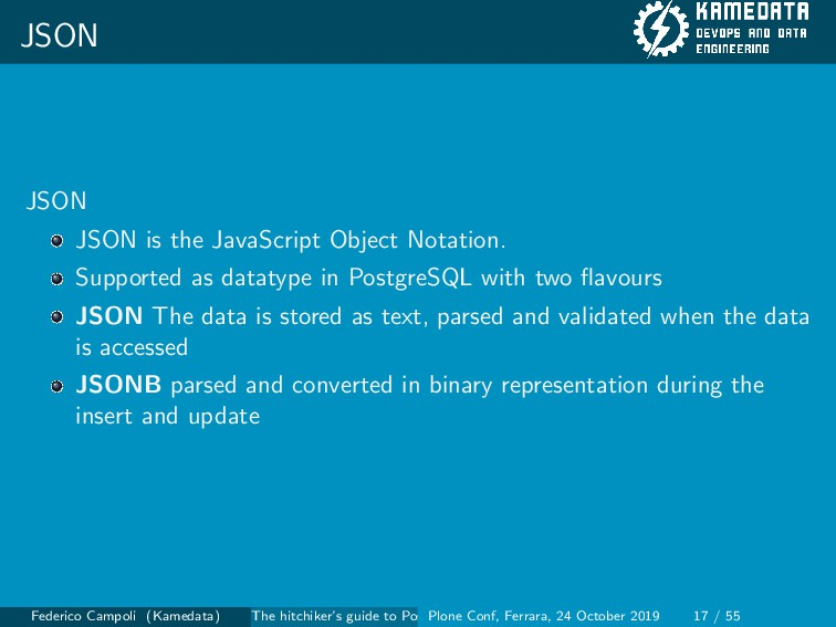 JSON JSON JSON is the JavaScript Object Notatio...
