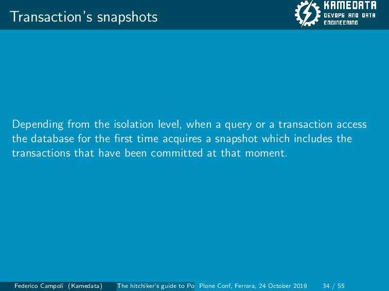Transaction's snapshots Depending from the isol...