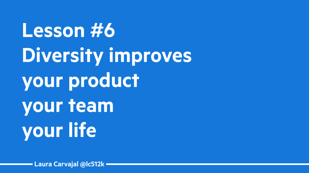 Laura Carvajal @lc512k Lesson #6 Diversity impr...