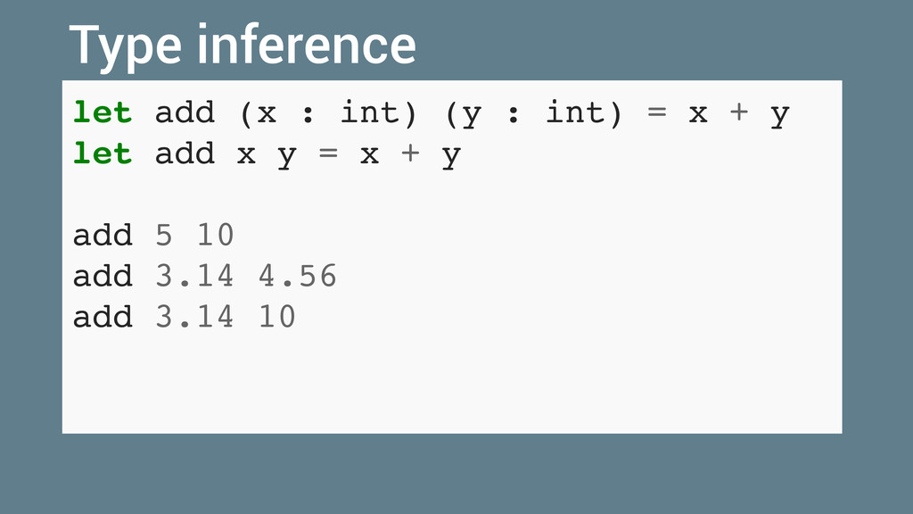 let add (x : int) (y : int) = x + y let add x y...