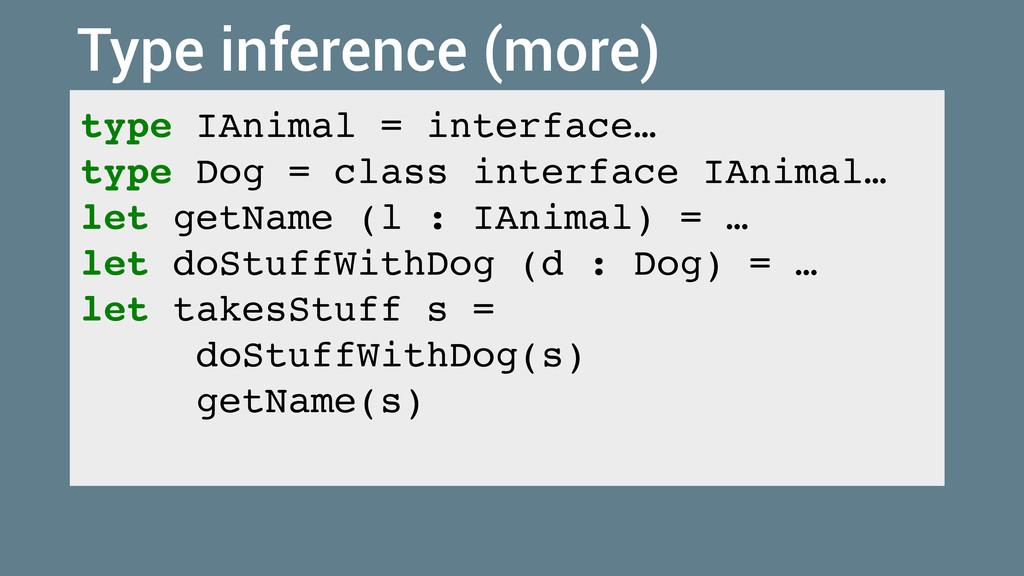 type IAnimal = interface… type Dog = class inte...