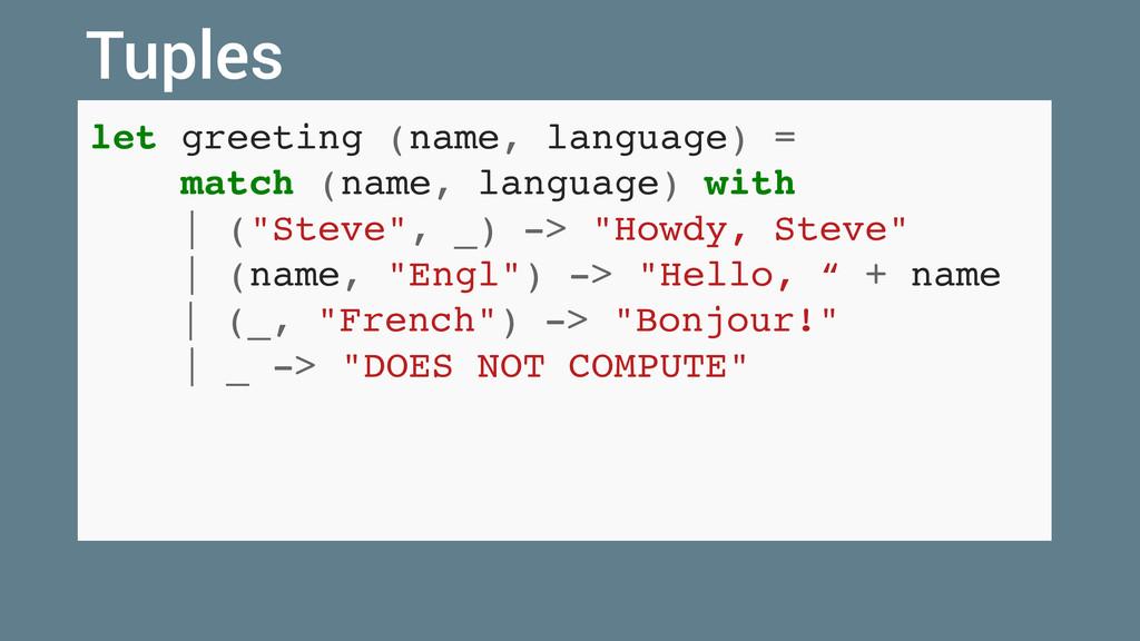 let greeting (name, language) = match (name, la...