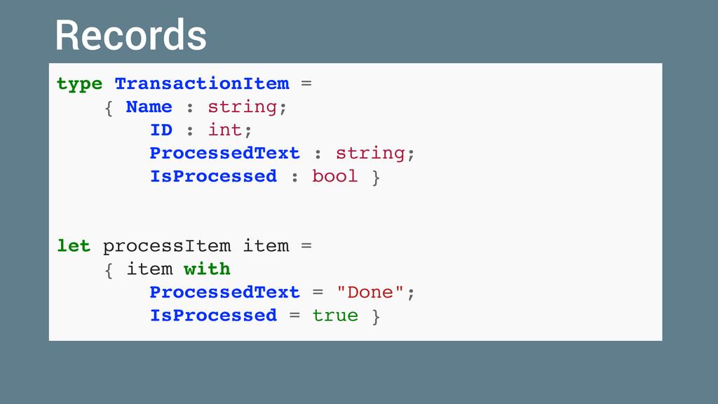 type TransactionItem = { Name : string; ID : in...