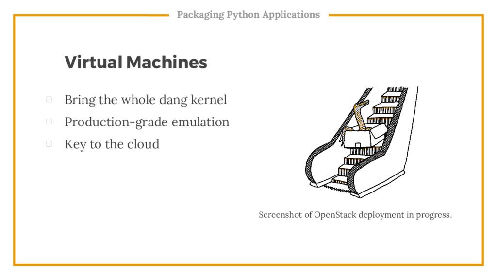 ⊡ Bring the whole dang kernel ⊡ Production-grad...