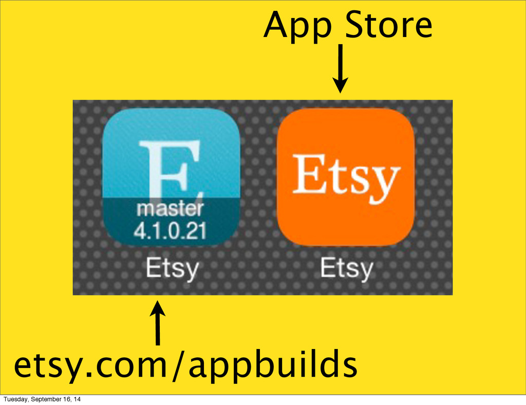 etsy.com/appbuilds App Store Tuesday, September...