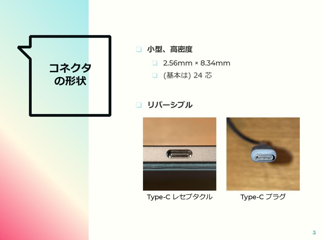 コネクタ の形状 ❏ ⼩型、⾼密度 ❏ 2.56mm × 8.34mm ❏ (基本は) 24 ...