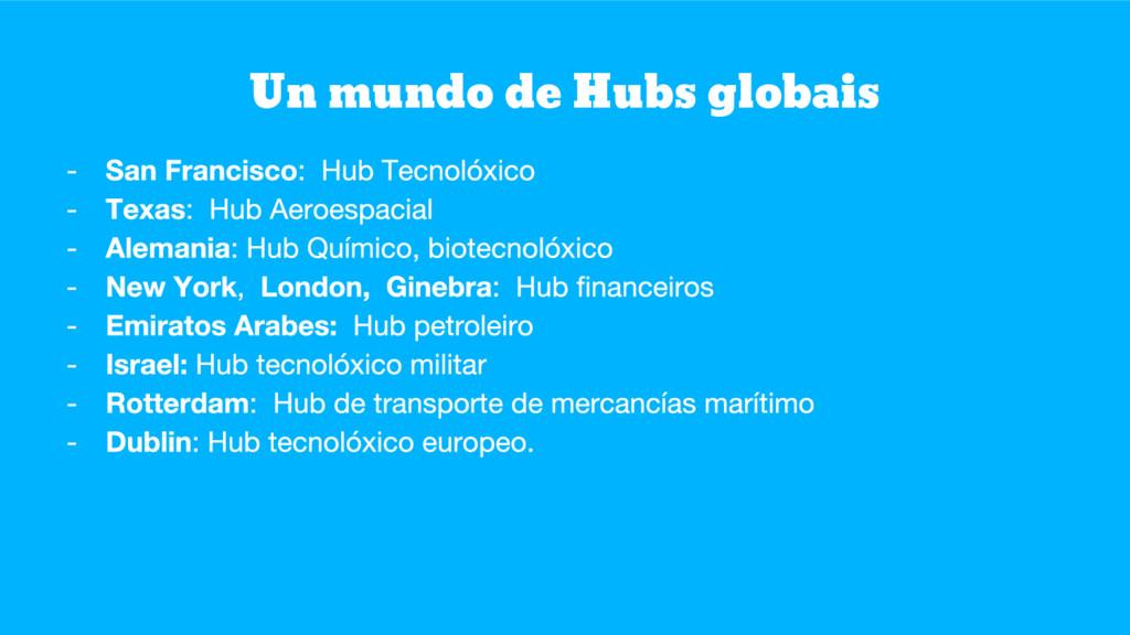 Un mundo de Hubs globais