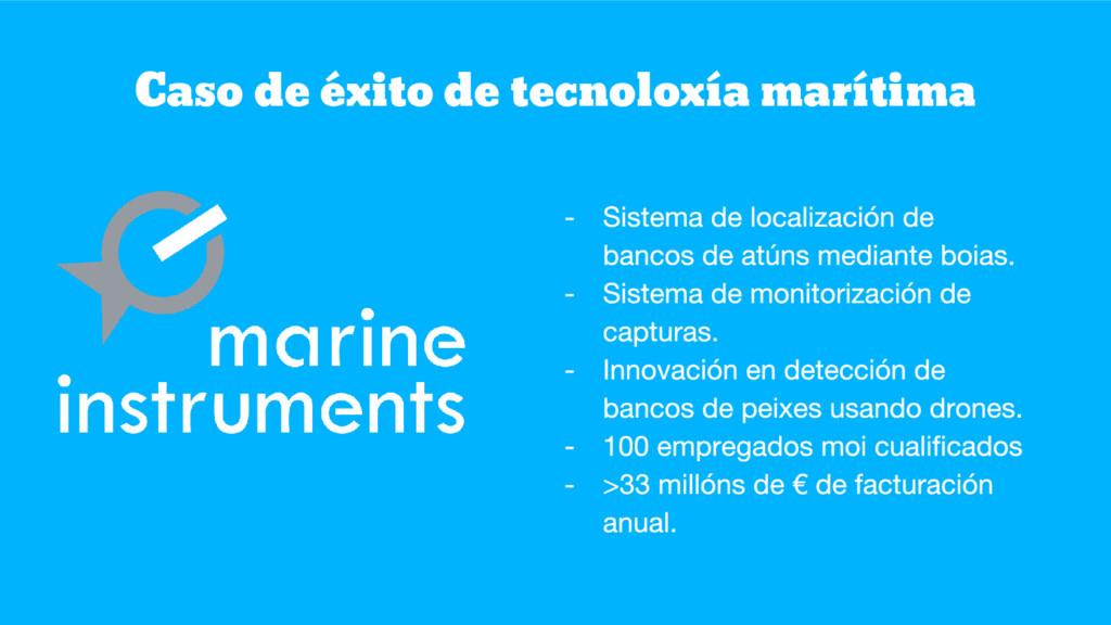 Caso de éxito de tecnoloxía marítima