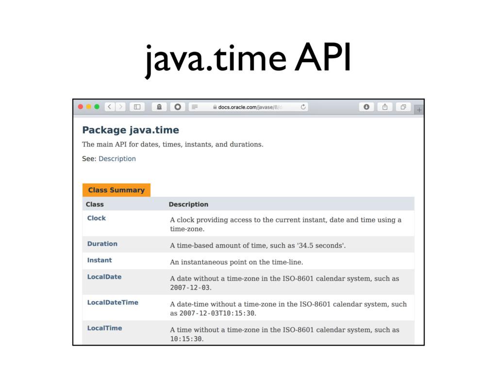java.time API