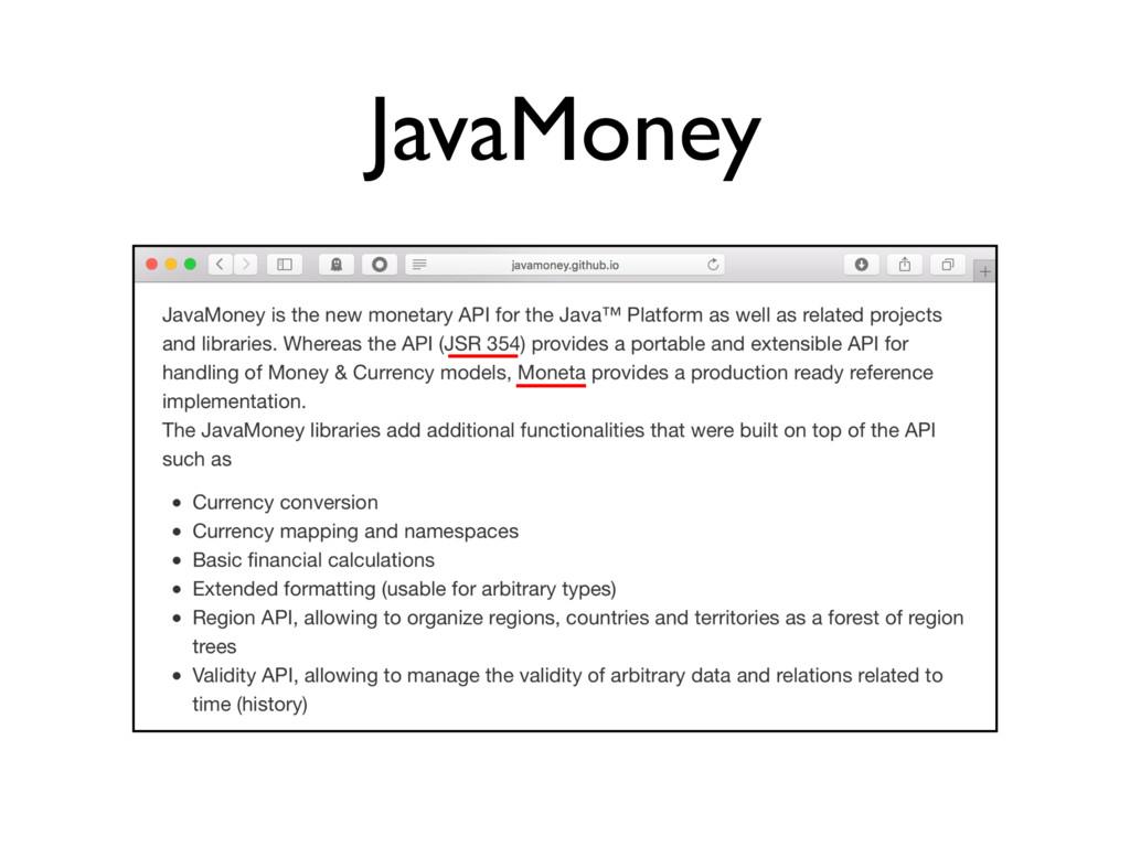 JavaMoney