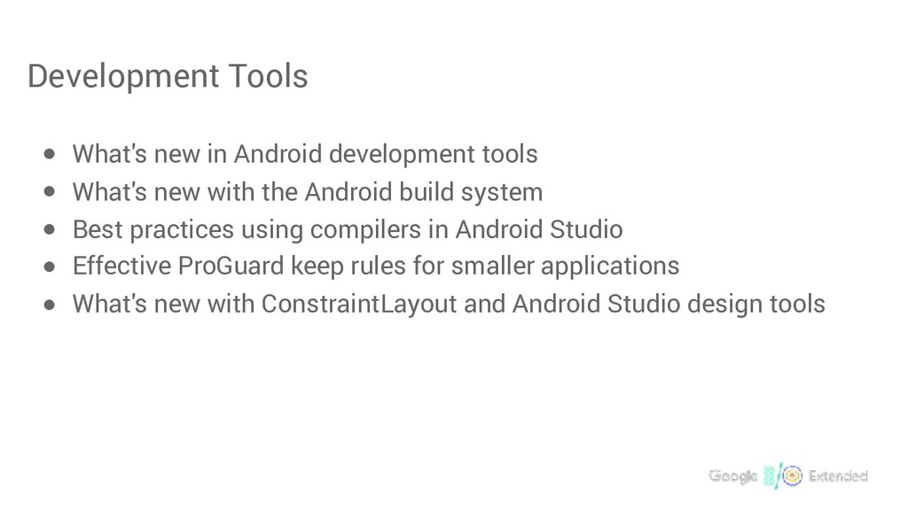 Development Tools ● What's new in Android devel...