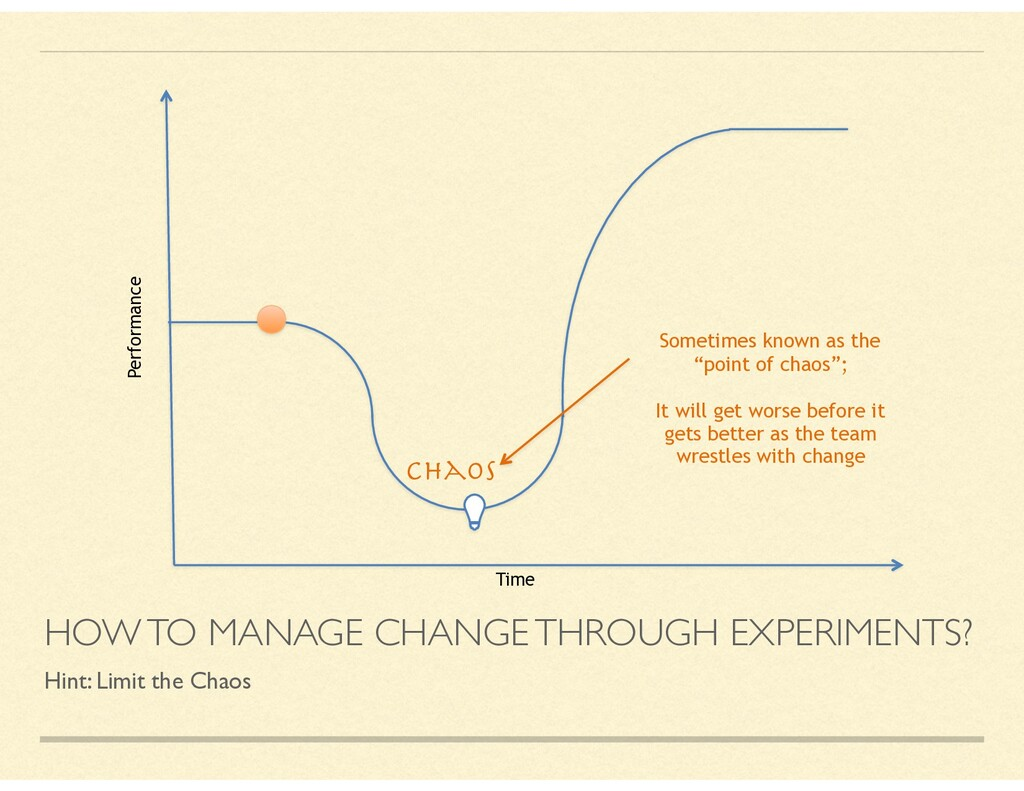 HOW TO MANAGE CHANGE THROUGH EXPERIMENTS? Hint:...