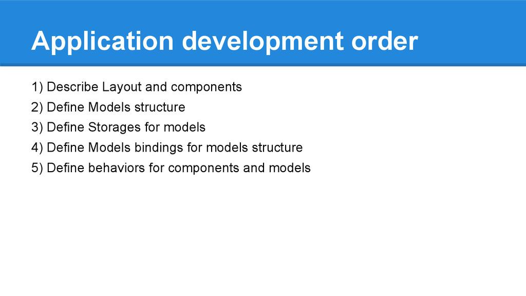 Application development order 1) Describe Layou...