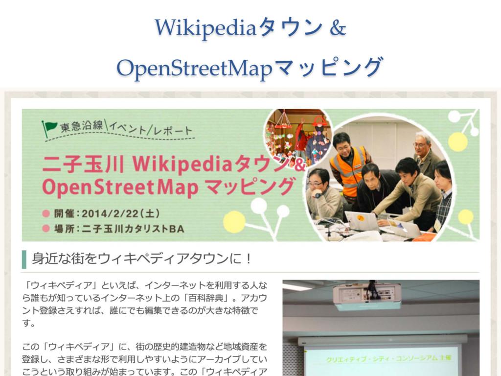 Wikipediaタウン &  OpenStreetMapマッピング